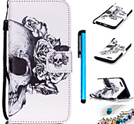 Coloured Drawing PU Leather Mobile Holster Including Anti-dust Plug stylus for iPhone 6 Plus/iPhone 6S Plus