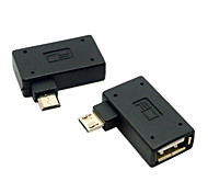 cy® izquierda y derecha girando micro USB OTG para Samsung i9500 N7100 Nota 3