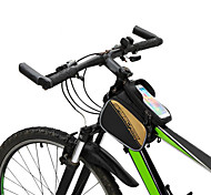 "Bicycle Frame Pannier Saddle Front Top Tube Double Bag Cycling Pouch Touchable for 6.0"" Inch Cellphone"