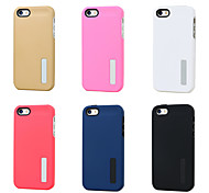 PC Two in One Stand Mobile phone Case for iPhone 5S/5 Assorted Color