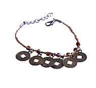 Fashion   Five Copper Lacing  Straw Rope Bracelet