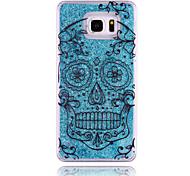 crânio padrão pc estrela estereoscópico caso de telefone areia movediça para Samsung Galaxy Nota 3/4/5 (cores sortidas)