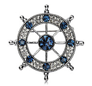 New Arrival Fashion Jewelry Retro Popular Rhinestone Anchors Brooch