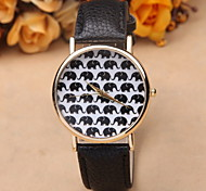 New Simple Fashion Ladies Fashion Casual Cartoon Elephant Pattern Personalized Watches Cool Watches Unique Watches