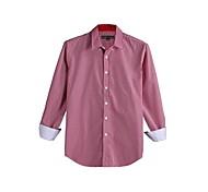 JamesEarl Men's Shirt Collar Long Sleeve Shirt & Blouse Red - DA112046201