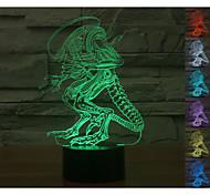 Visual 3D Variation Man Model Mood Atmosphere LED Decoration USB Table Lamp Colorful Gift Night Light