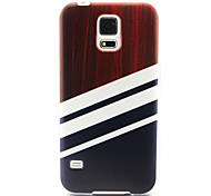 Wood  Pattern TPU Painted Soft Back Cover for GALAXY S6/S6 edge S5/S5Mini S4/S4Mini S3/S3Mini