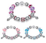 Fashion jewelry Strand Beads Bracelets Glass Beads Charm Bracelets Silver European beads bracelets Women Gift PH001