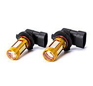 2 Pcs 9005 9040 HB3 White 27 SMD LED Auto Car DRL Driving Fog Light Bulb DC 12V