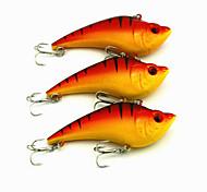 """Vibrazione 18g g / 5/8 Oncia , 90mm mm / 3-1/2"""" pollice 3pcs pc Pesca con esca , Arancione Plastica"""
