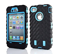 2 in 1 armatura stile robot pc e sillcone caso composito per iPhone 4 / 4S