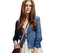 ELFSACK Women's V Neck Long Sleeve Sweater & Cardigan Blue / White / Green / Orange / Yellow - 219032