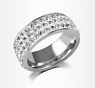 Fashion Spinner Rhinestone Ring For Men Stainless Steel Wedding Mens Ring Wholesale Cool Jewelry
