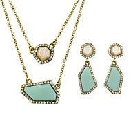 Bijoux Colliers décoratifs / Boucles d'oreille Mariage / Soirée / Sports Alliage 1set Femme Cadeaux de mariage