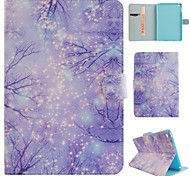 Purple Woods Coloured Drawing or Pattern PU Leather Folio Case Tablet Holster for iPad Mini 4