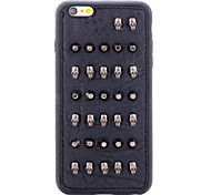 Rivet Leather Series Black-Metallic Skullheads TPU Soft Back Cover for iPhone 5/5S