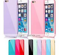grande couverture de gel de silice d douce pour iPhone 6 / 6s (de couleurs assorties)