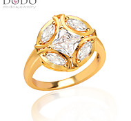Big Round Ball Simulated White Diamond Ring New Trendy 18K Gold Plated AAACubic Zirconia Ring for women R70094