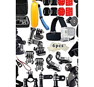 44in1Gopro Accessories Set Helmet Harness Chest Belt Mount Strap Monopod For Go pro Hero 4 3+2 xiaomi yi action camera
