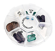 "Travel Pill Box/CaseForTravel Accessories for Emergency Plastic 3.35""*3.35""*0.79""(8.5cm*8.5cm*2cm)"