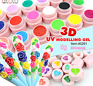 40261 Nails Supplies CANNI Factory GDCOCO Brand Nails Art 3D UV Modelling Gel 24 Colors UV GeL