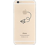 iPhone 6/6S compatible Novelty/Transparent/Special Design/Ultra Slim/Holding/Eating Apple Logo Back Cover