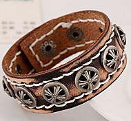 Fashion Crow Heart Rivets Leather Bracelets