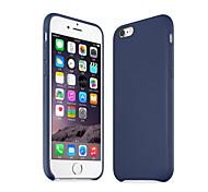 simple cas de téléphone en cuir de haute qualité pour 6s iphone 6, plus