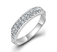 Platinum Plated micro Pave Zircon Crystal Ring For Women Ring Lord Of The Rings Engagement Rings Fashion Jewelry