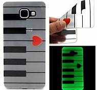 o coletor ideal TPU caso de piano luminosa padrão sofe para Samsung Galaxy A510 / A710