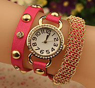 Ladies New Watch Women Rose Gold Diamond Bracelet Watch Leather Strap Watch Cool Watches Unique Watches