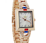 Ms. Quartz Watch Pretty Rose Gold With Diamonds