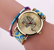 Xu™ Женские Модные часы Часы-браслет Повседневные часы Кварцевый Материал Группа Цветы Богемные Разноцветный