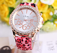 Ladies' Watch Geneva Fashion Leopard Leather Watch