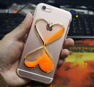 Fashion Heart-Shaped Quicksand And  Luminous Design TPU Back Case for iPhone 6/6s(Assorted Colors)