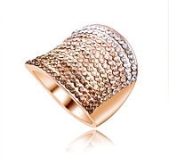 Hot Sale Unique Fashion Micro Paved Zircon Rings for Women Big Size Ladies Silver Ring Size 6 7 8 9