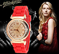 Hot Sale Women Watch 2016 Fashion Geneva Casual Watch Silicone Wristwatch Girls Women Men Quartz Watch