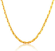 Stainless Steel 18K Gold Plated Men Jewelry Gift Items New High Quality NEVER FADE 5MM Wide Link Chain Necklaces N50126