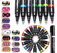 Fashion Nail Art Pen Polish Painting Dot Drawing UV Gel Design Manicure Nail Beauty Tools 16 Colors For Your Choice