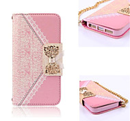 Elegant Design Cute Flip Wallet Leather Case for iPhone 4/4S