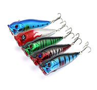 """5pcs pcs Popper de Pesca Cores Sortidas 12g g/7/16 Onça,90mm mm/3-1/2"""" polegada,Plástico Pesca de Isco"""
