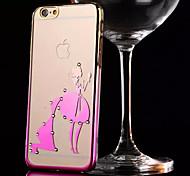 Gradual Change Ultra-thin Diamond Plating Bright Plastic Cover #2 for iPhone 6/6S