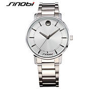 SINOBI Men's Wrist watch Water Resistant / Water Proof Sport Watch Quartz Alloy Band Silver