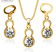 Fashion Zircon Pendants Necklaces Earrings crystal jewelry Set For Women 18K Gold Plated Vintage Jewelry Sets S20111