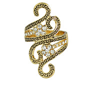 New Model Gold Silver Plated Stone Ring