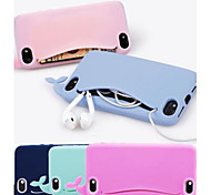 Lovely Silicone cute Whale Soft Case for iPhone 4/4S (Assorted Colors)