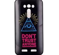 cassa del telefono TPU occhi modello a triangolo per zenfone ze550kl 2 laser