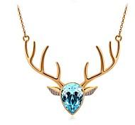 Women Necklace ELegant Crystal Deer Pendant Necklace