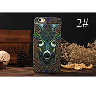 4 Generations Of The King PC With Painting Back Case For Iphone6,6S(1#~6#)(Assorted Color)