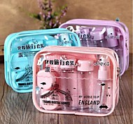 Shading Makeup Plastic Travel Bottle Set Blue/Pink/Purple